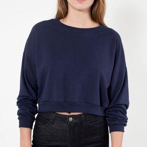 American Apparel California Fleece Crop Sweatshirt